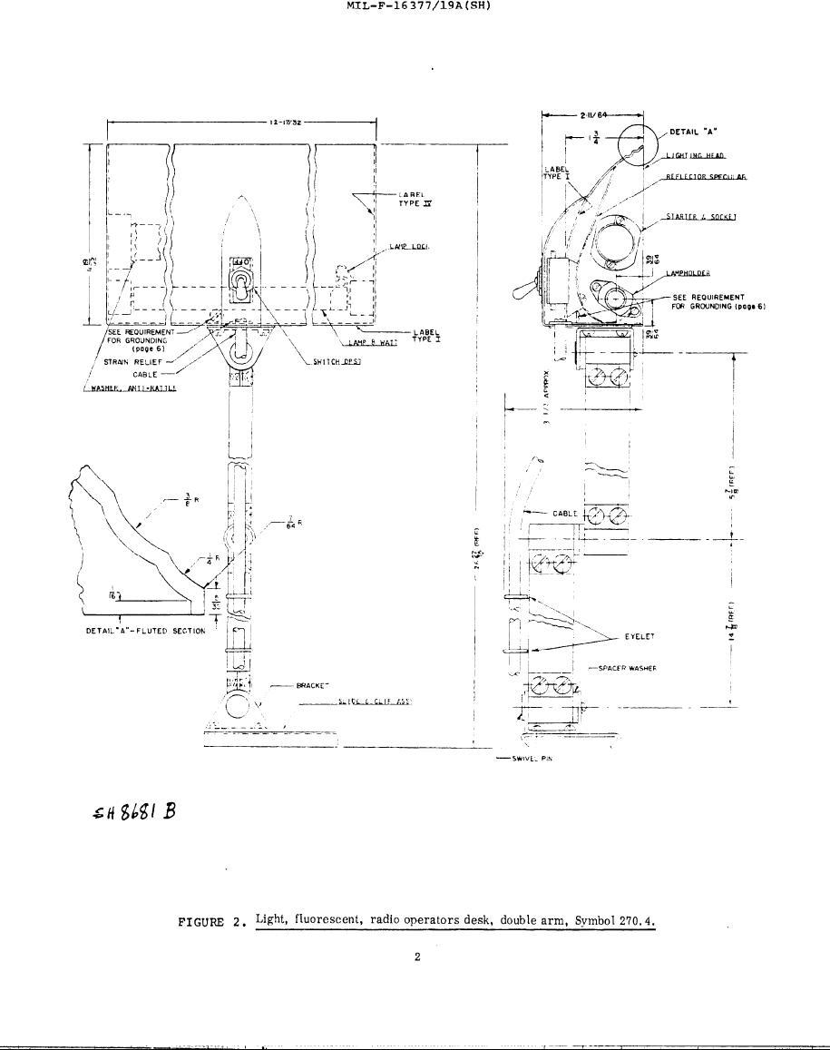Figure 2 Light Fluorescent Radio Operators Desk Double Arm