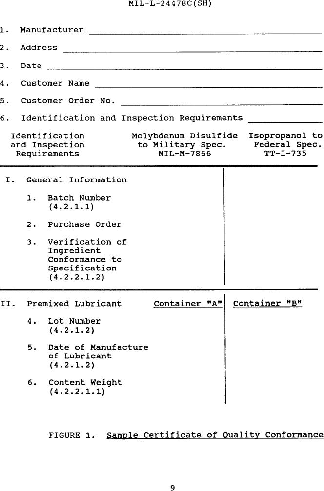 Figure  Sample Certificate Of Quality Conformance