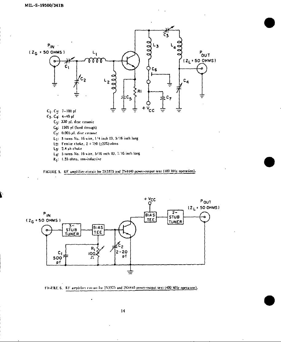 Figure 5 Rf Amplifier Circuit For 2n3375 And 2n4440 Power Output Img