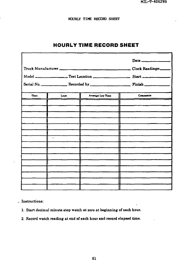 time record sheet